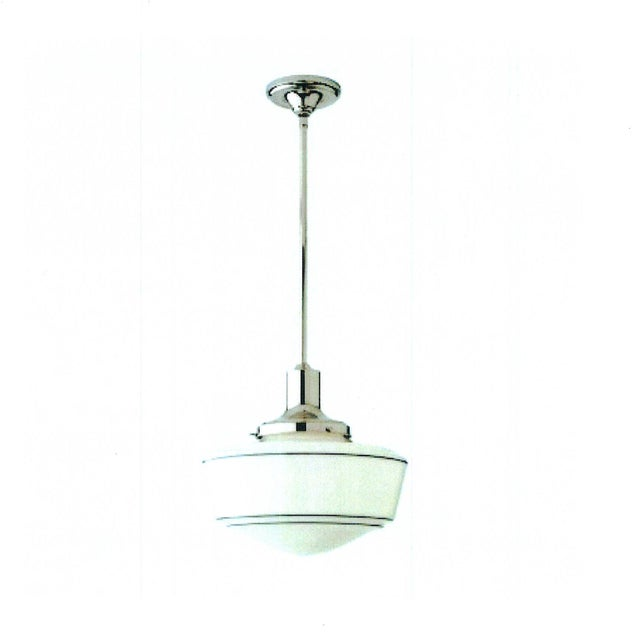 "2010s Schoolhouse Electric ""Harding"" Pendent in Polished Nickel For Sale - Image 5 of 5"