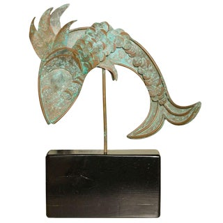 Metal Fish Sculpture For Sale