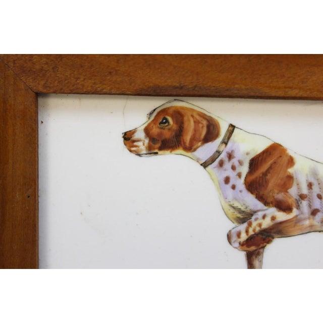 Framed Sporting Dog Enamel Print - Image 3 of 4