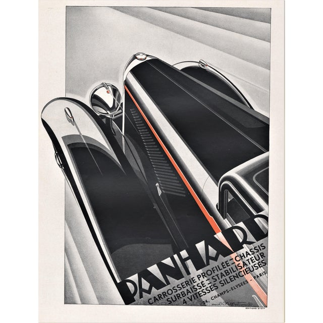 Art Deco Automobile Print by Kow For Sale - Image 4 of 4