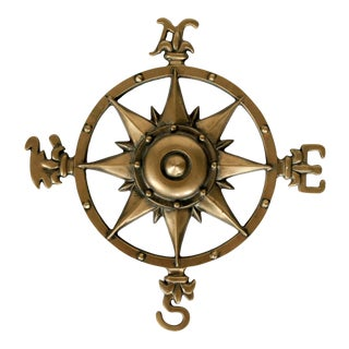 Brass Compass Rose