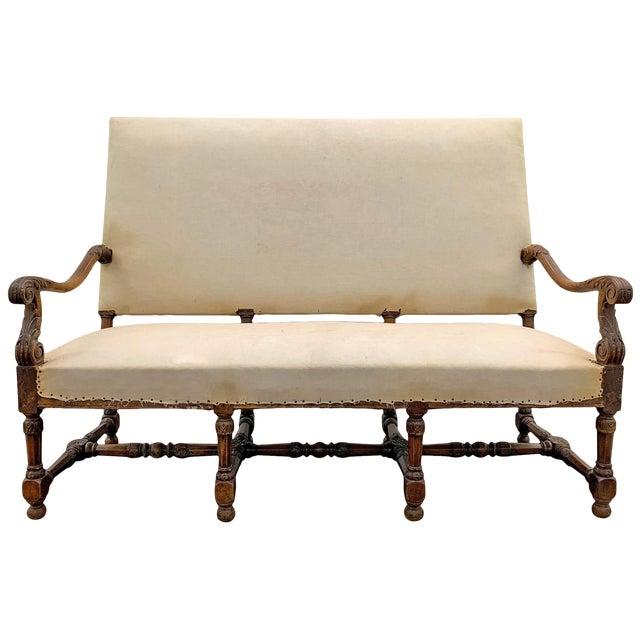 Louis XIV Settee For Sale