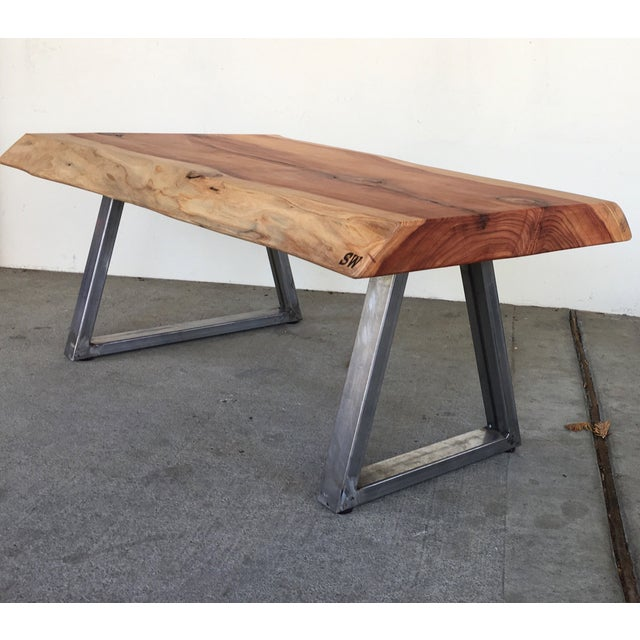 Live Edge Redwood Slab Coffee Table - Image 2 of 6