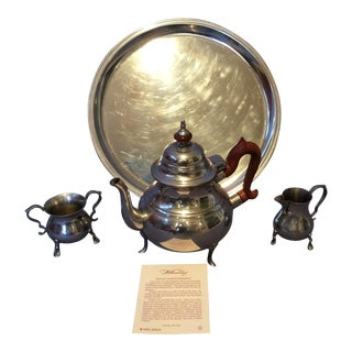 Williamsburg Pewter Tea Set - Set of 4