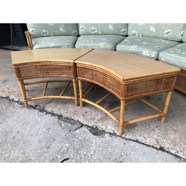Vintage Ficks Reed Rattan Sectional Sofa Set For Sale In Tampa - Image 6 of 13