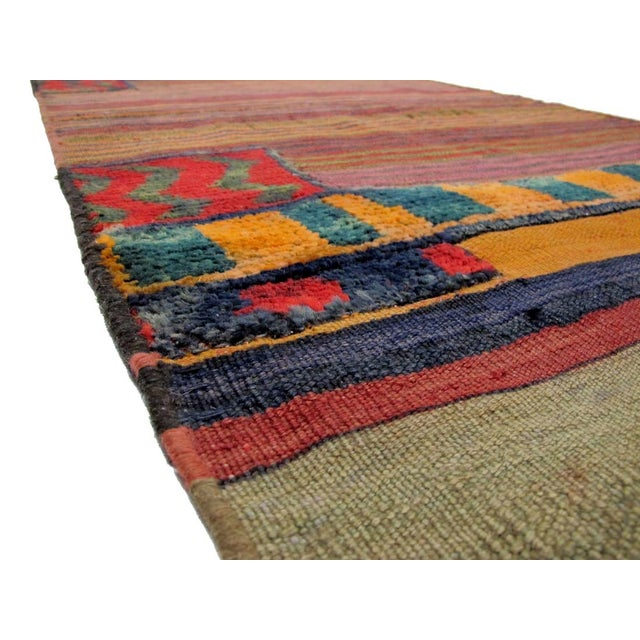 """Boho Chic Vintage Persian Tacheh Rug - 3'2"""" X 7'3"""" For Sale - Image 3 of 3"""