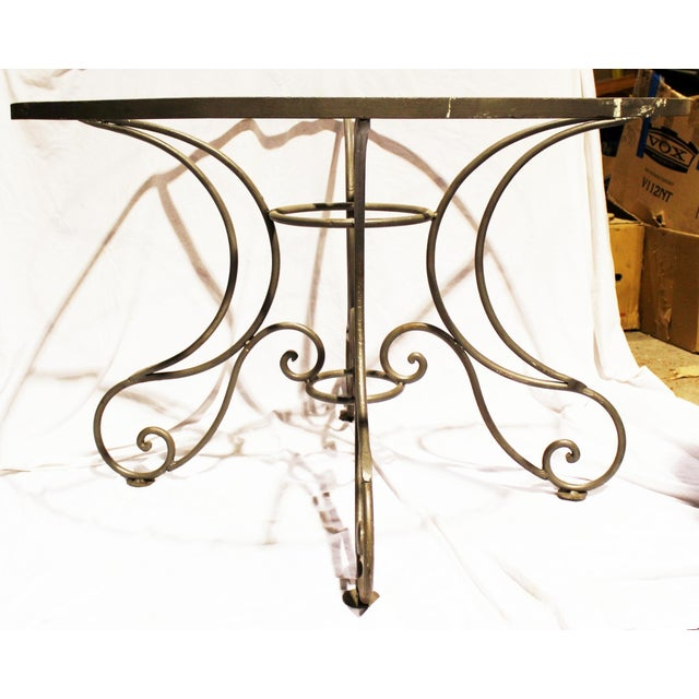 Wrought Steel Dining Table Base For Sale - Image 5 of 10