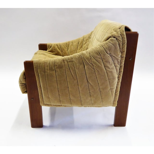 Danish Modern 1970s Domino Mobler Danish Modern Solid Teak Lounge Chair For Sale - Image 3 of 13