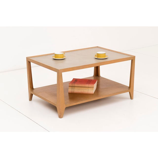 Mid-Century Modern Edward Wormley Leather Top Coffee Table For Sale - Image 3 of 7