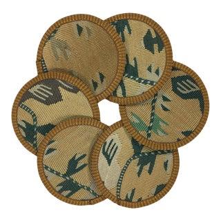 Kilim Coasters Set of 6 - Karagoz For Sale