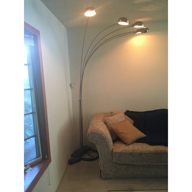 Arched brushed chrome floor lamp 1980s chairish arched brushed chrome floor lamp 1980s image 4 of 9 aloadofball Choice Image
