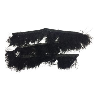 Kravet Black Ostrich Feather Woven Trim