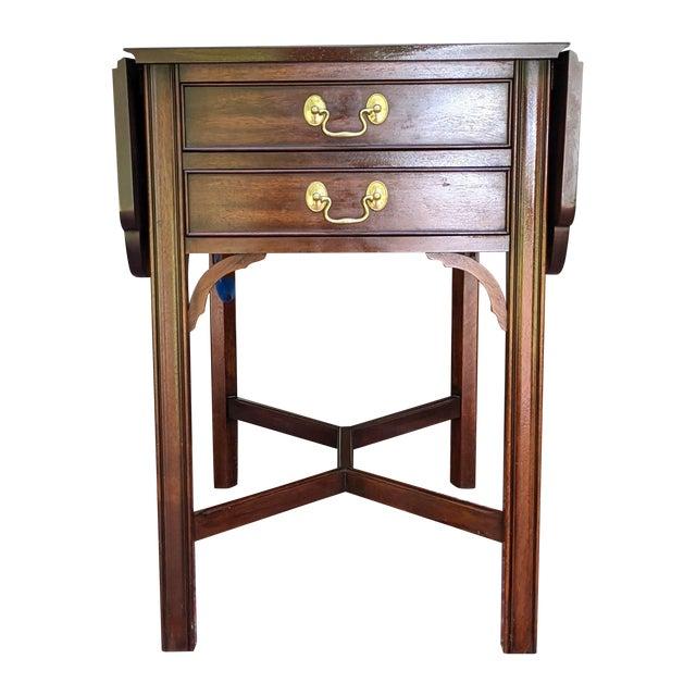 Vintage Henkel-Harris Drop Leaf Mahogany Side Table For Sale