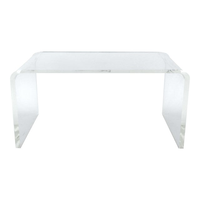 Modern Waterfall Coffee Table For Sale - Image 4 of 5