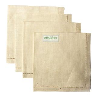 Vintage Irish Linen Square Napkins - Set of 4 For Sale