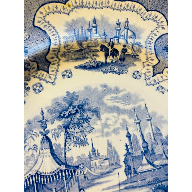 Antique Early 19th Century Staffordshire Blue and White Transferware Dinner Plates -Set of 6 For Sale In Washington DC - Image 6 of 9