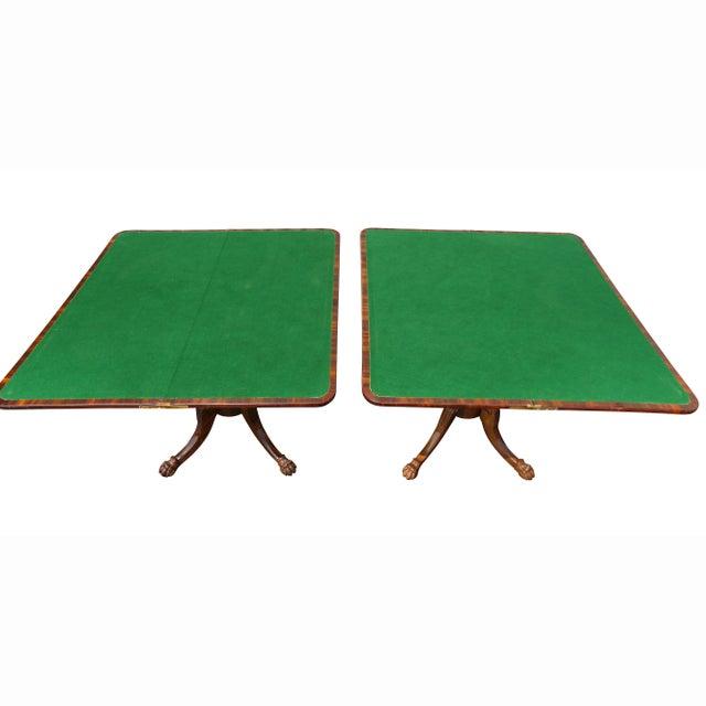 Felt Pair of Regency Rosewood Games Tables For Sale - Image 7 of 13