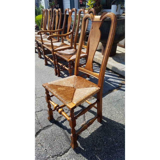 Stickley Reproduction Queen Anne Dining Chairs - Set of 6 - Image 5 of 9