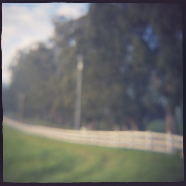 """""""Fenceline"""" , film toy camera image from the series """"Remembered Landscapes."""" Sonoma, Ca. 10x10 image printed on 11x14..."""