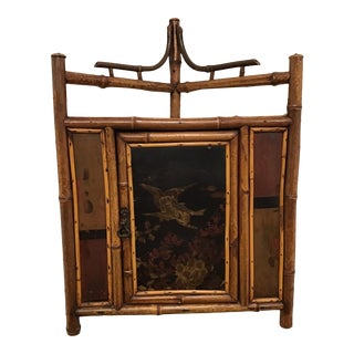 19th Century English Bamboo Corner Cabinet For Sale