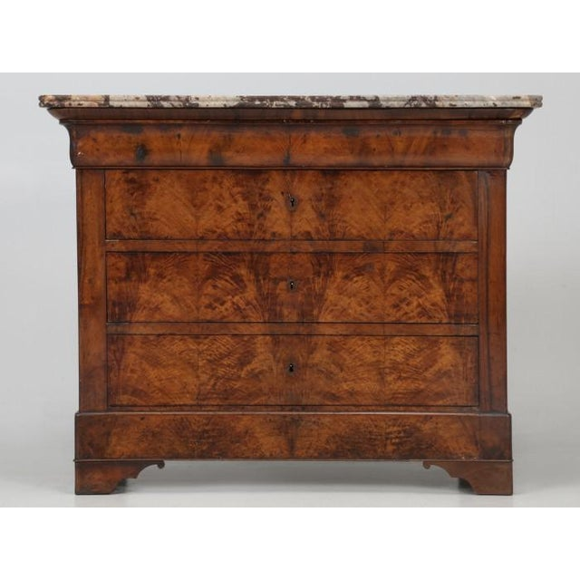 Antique Louis Philippe French Burl-Walnut Commode For Sale - Image 13 of 13