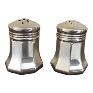 Vintage Small Cartier Sterling Silver Salt & Pepper Shakers For Sale