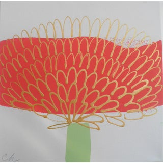 Coral Floral 1 Contemporary Painting For Sale