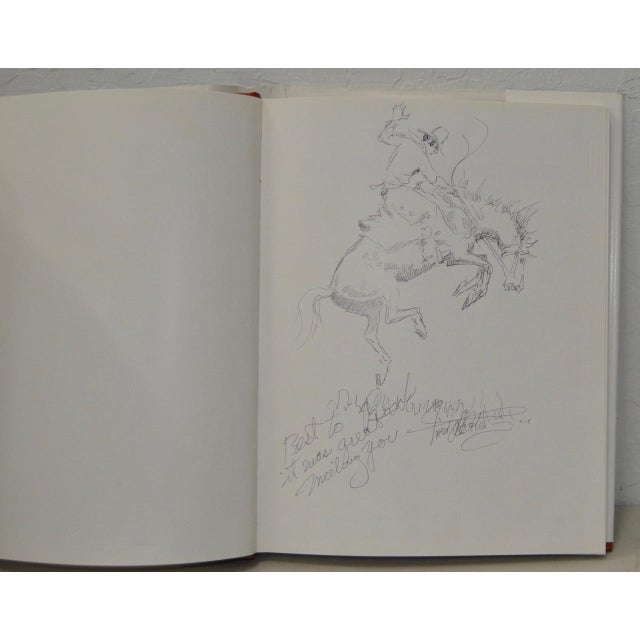 Excellent The Fred Oldfield Book With Original Drawing Inscription