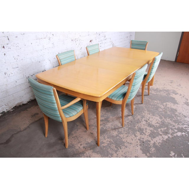 Heywood Wakefield Mid-Century Modern Solid Maple Extension Dining Table,  1950s
