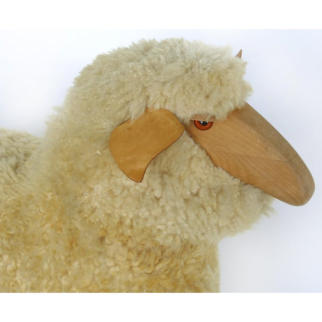 1980s Lifesize Sheep & Lamb Sculptures by Hanns-Peter Krafft- Set of 2 For Sale - Image 5 of 10