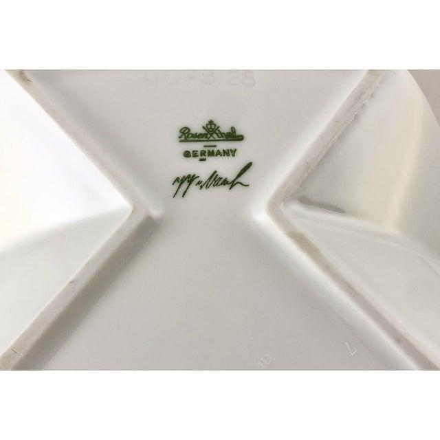 Antique White Rosenthal Porcelain Brigitte Doege Calla Lily Vase For Sale - Image 8 of 10