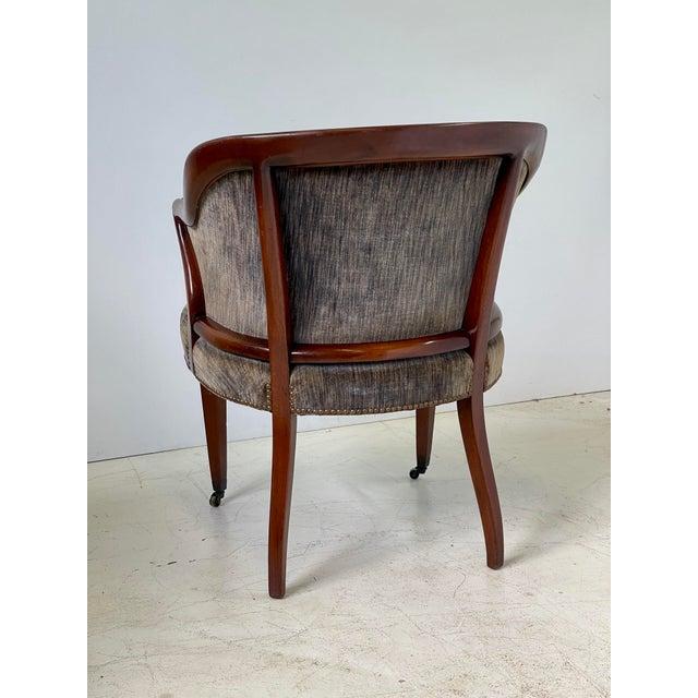 Art Deco Art Deco Armchair of Mahogany, Circa 1940s For Sale - Image 3 of 13