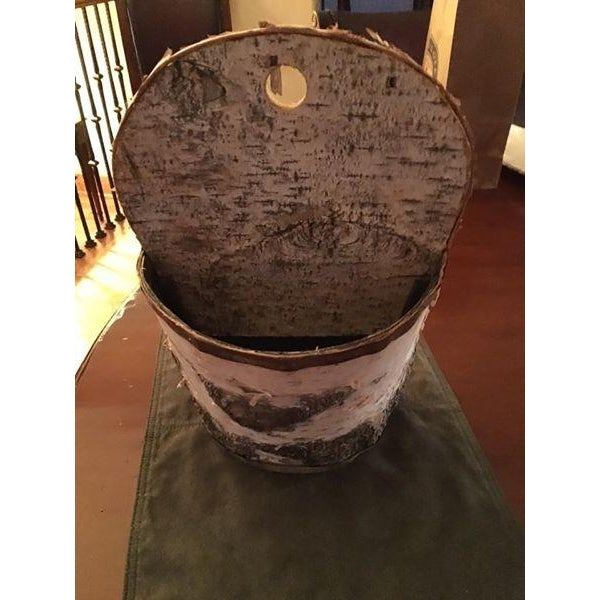 Birch Bark Basket Made in Minnesota - Image 3 of 4