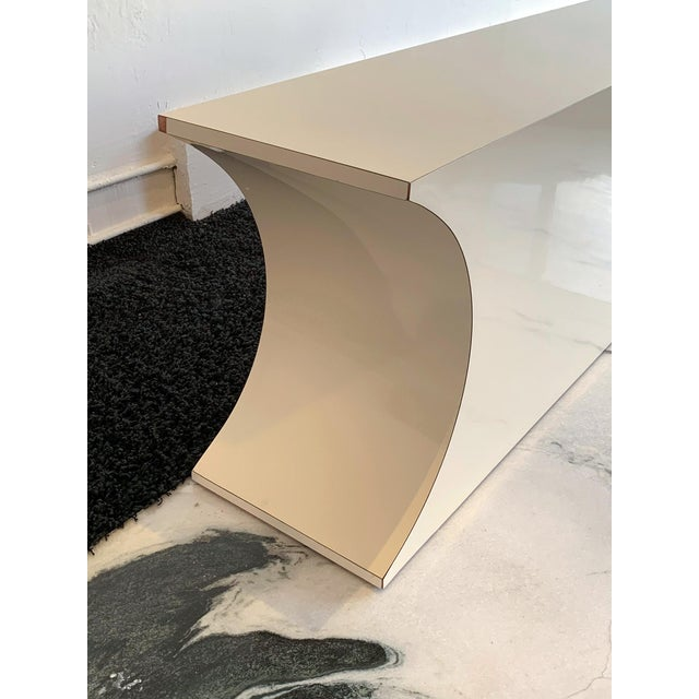 1980s Postmodern Geometric Laminate Console Table For Sale - Image 5 of 6