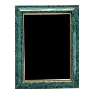 Rectangular Faux Malachite and Gold Photo Frame For Sale