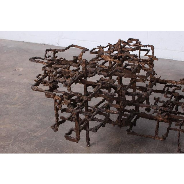Bronze Brutalist Coffee Table by Daniel Gluck - Image 9 of 10