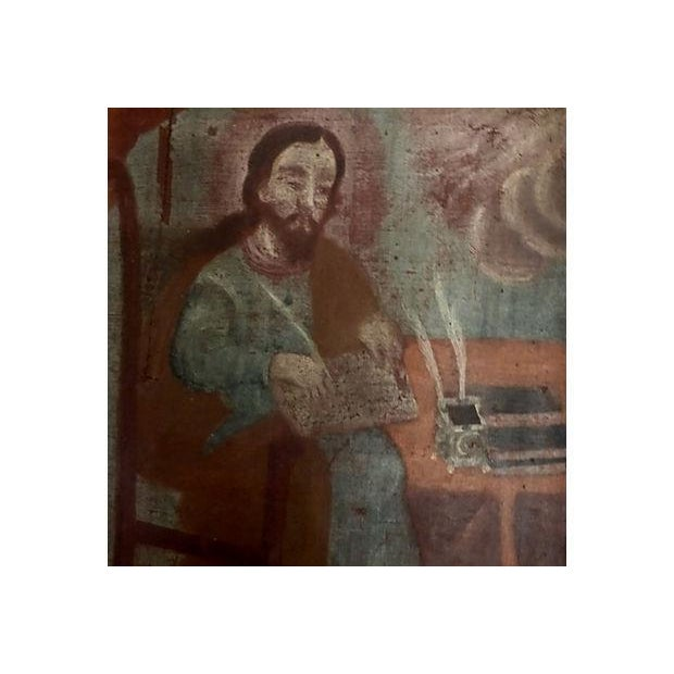 Medieval Scholar Antique Painting - Image 5 of 5