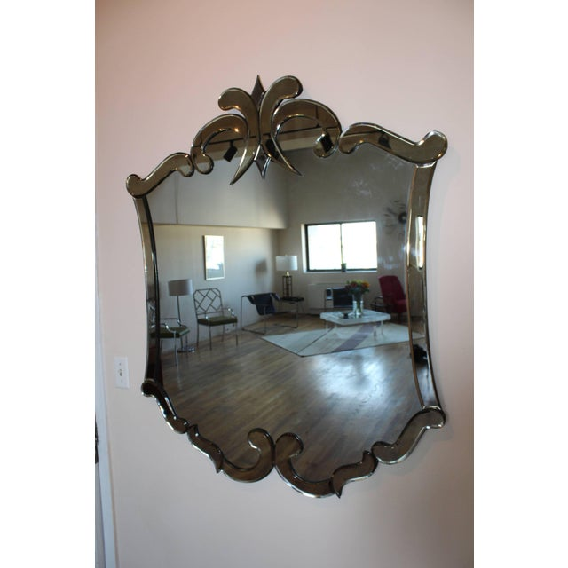 Mid 20th Century 1940s Venetian Style Mirror For Sale - Image 5 of 8