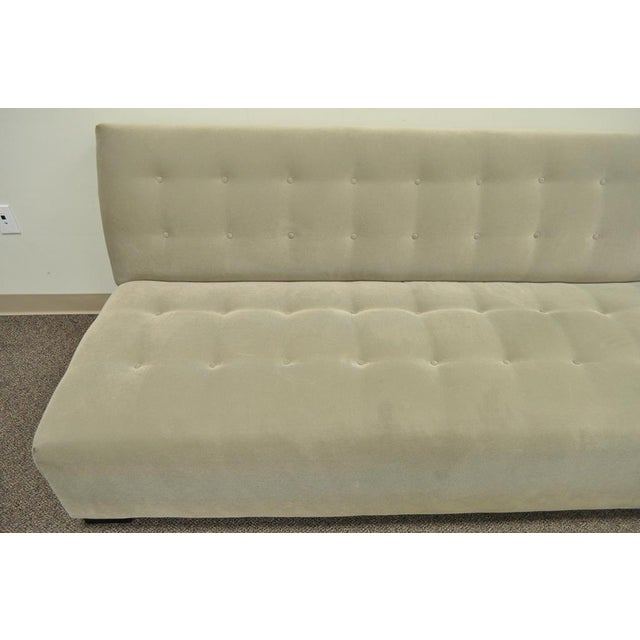 Crate & Barrel Mitchell Gold Modern Plus Armless Sofa Loveseat Couch 336-003t-20 For Sale - Image 10 of 12