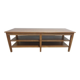 Ethan Allen Swedish Home Long Coffee Table For Sale