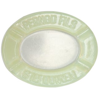 Vintage Pernod Fils Vaseline Glass Ashtray