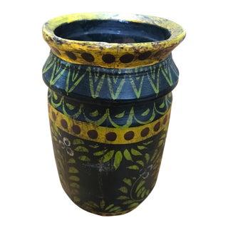 Wooden Folk Vase