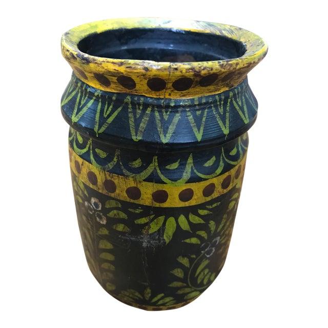 Wooden Folk Vase - Image 1 of 3