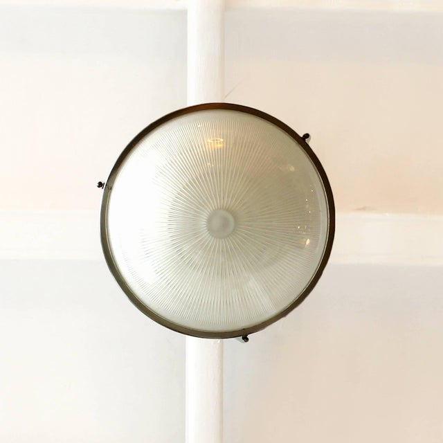 Mid-Century Modern 1960´s Lantern by Sergio Mazza for Artemide, nickel-plated brass, glass-Italy For Sale - Image 3 of 7