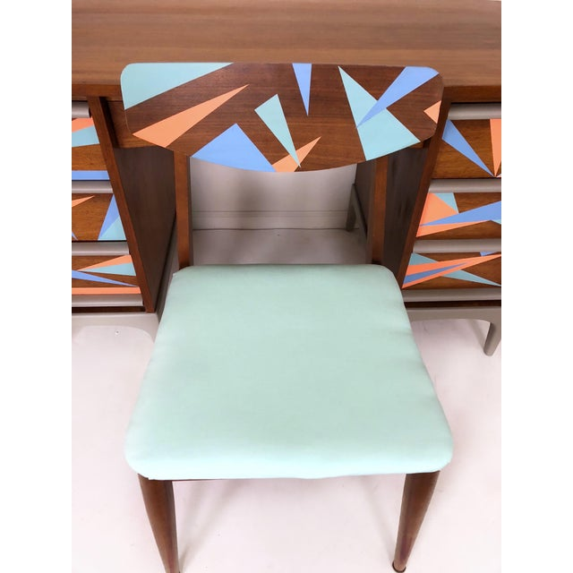 1960s Vintage Lane Furniture Mid-Century Modern Desk & Chair - 2 Pieces For Sale In Phoenix - Image 6 of 8