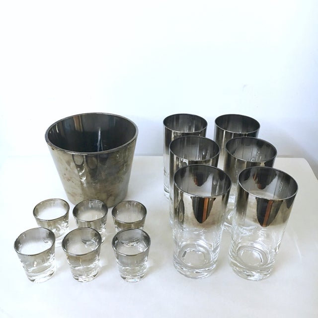 14-Piece Silver Ombre Cocktail Set - Image 4 of 5