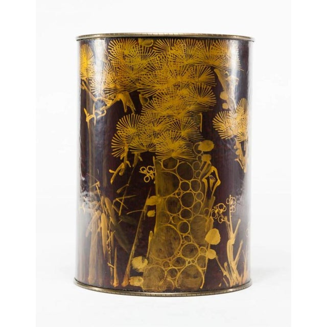 Mustard Lawrence & Scott Leather Umbrella Stand For Sale - Image 8 of 8