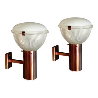 Mid-Century Modern Sconces by Ignazio Gardella for Azucena 1960s - a Pair For Sale