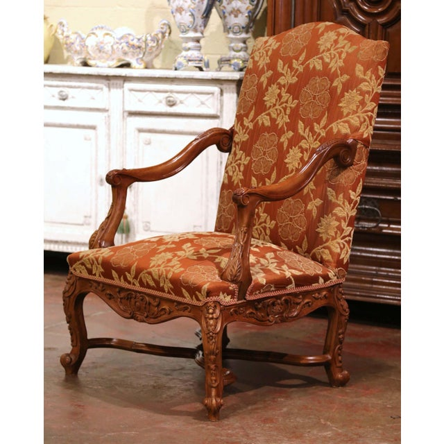 19th Century Louis XV Carved Walnut Armchairs From Provence - a Pair For Sale - Image 11 of 13