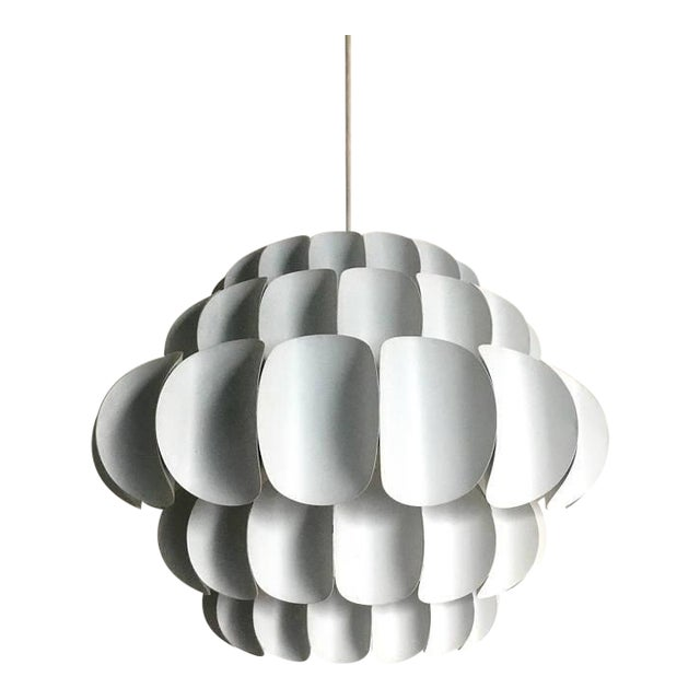 Final Markdown White Metal Petal Pendant by Thorsten Orrling for Hans Agne Jakobsson For Sale